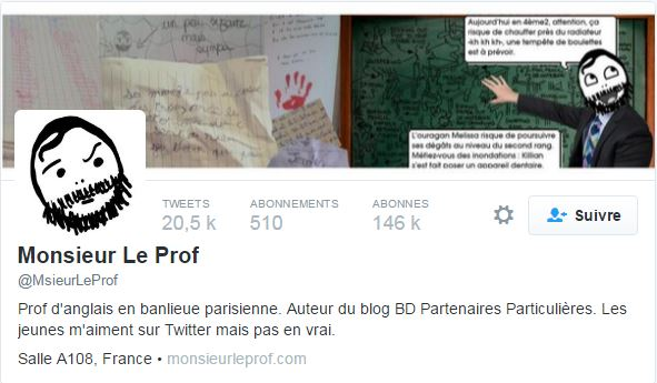 monsieur prof tweeter